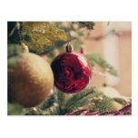 Árbol de navidad y decoración tarjetas postales