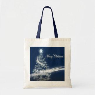 Árbol de navidad y estrella elegantes bolsa