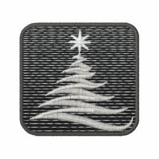 Árbol de navidad y estrella modernos del zigzag de