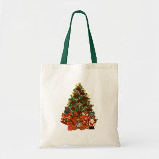 Árbol de navidad y osos de peluche bolsa