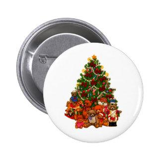 Árbol de navidad y osos de peluche pins