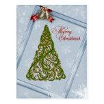 Árbol de navidad y postal adornados de Belces