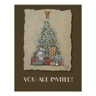 Árbol de navidad y presentes anuncios