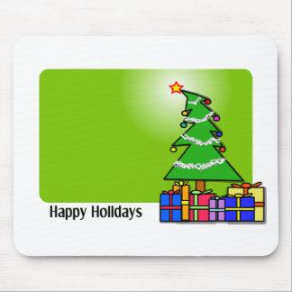Árbol de navidad y presentes tapete de raton