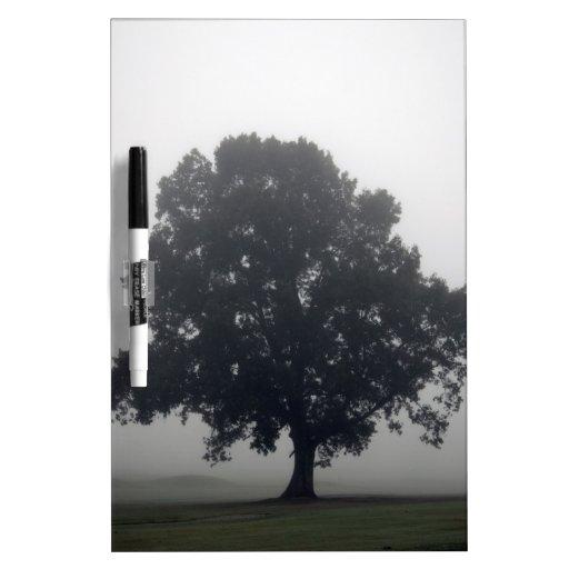 Árbol de niebla pizarra blanca