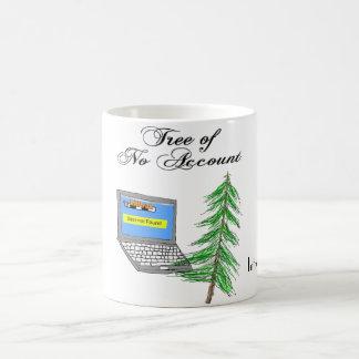 Árbol de ninguna cuenta taza básica blanca