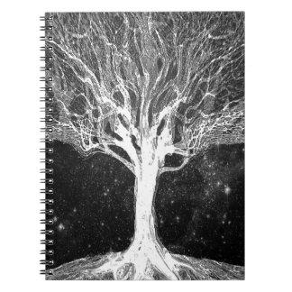 Árbol de noche estrellada de la vida cuaderno