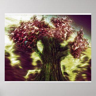 Árbol de octubre póster