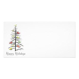 Árbol de papel del pájaro tarjetas personales