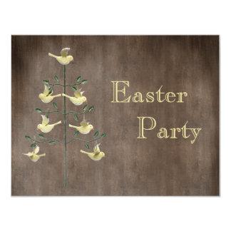Árbol de Pascua del vintage y fiesta rústicos de Invitación 10,8 X 13,9 Cm