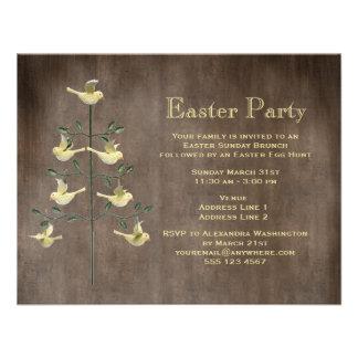 Árbol de Pascua del vintage y fiesta rústicos de P Comunicados Personalizados