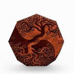Árbol de piedra rojo de Yin Yang