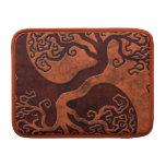 Árbol de piedra rojo de Yin Yang Fundas Para Macbook Air