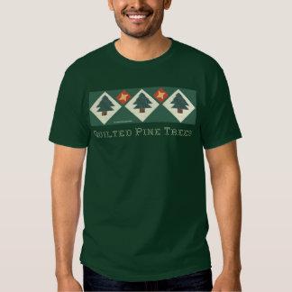 Árbol de pino acolchado polera