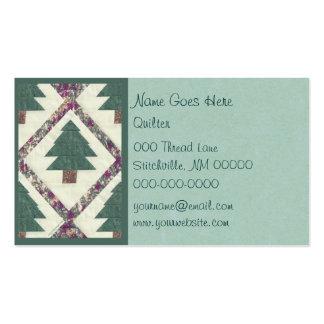 Árbol de pino acolchado tarjetas de visita