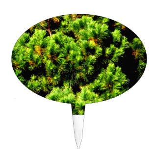 Árbol de pino decoración para tarta
