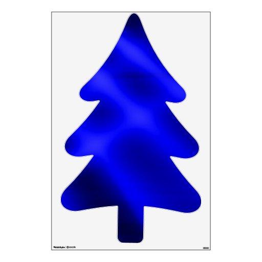 Árbol de pino azul claro y árbol de abeto vinilo