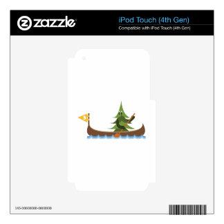 Árbol de pino Canoeing iPod Touch 4G Skins