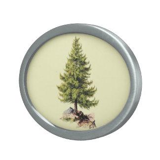 Árbol de pino del vintage hebilla cinturón