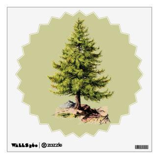 Árbol de pino del vintage vinilo