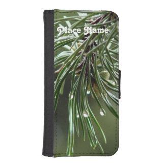 Árbol de pino funda billetera para teléfono