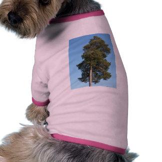 Árbol de pino camisetas mascota