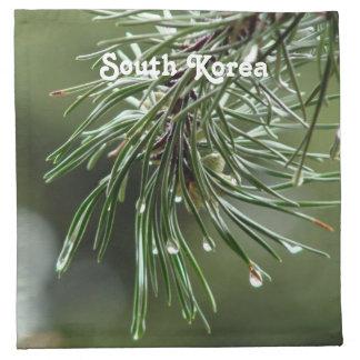 Árbol de pino servilleta imprimida
