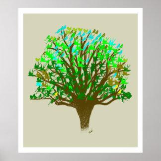 Árbol de Vida/árbol de la vida Póster