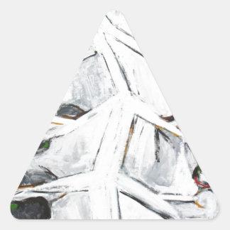 Árbol de White Pine del japonés (árbol abstracto) Calcomanías De Triangulos Personalizadas