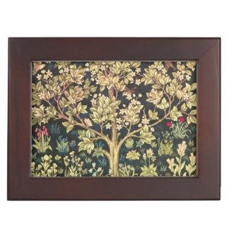 Árbol de William Morris de la vida Cajas De Recuerdos