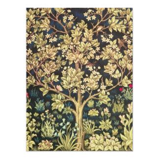 Árbol de William Morris de la vida Invitación 16,5 X 22,2 Cm
