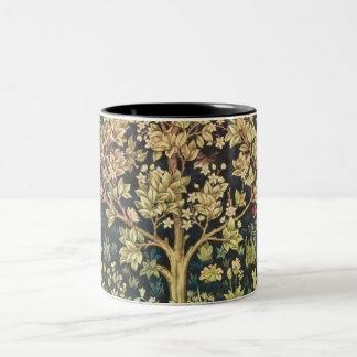 Árbol de William Morris del arte floral del Taza De Café De Dos Colores