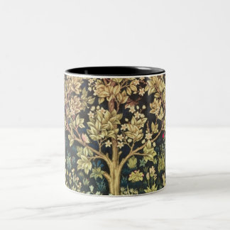 Árbol de William Morris del arte floral del Taza De Dos Tonos