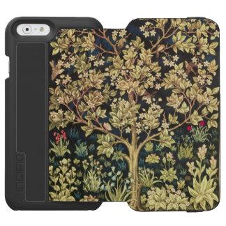 Árbol de William Morris del arte floral del Funda Cartera Para iPhone 6 Watson