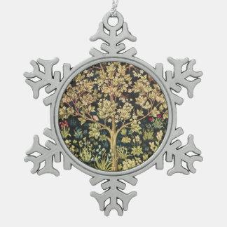 Árbol de William Morris del Pre-Raphaelite del Adorno De Peltre En Forma De Copo De Nieve