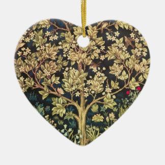 Árbol de William Morris del Pre-Raphaelite del Adorno De Cerámica En Forma De Corazón
