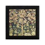 Árbol de William Morris del Pre-Raphaelite del Joyero Cuadrado Pequeño