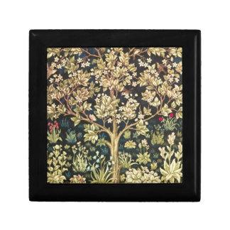 Árbol de William Morris del Pre-Raphaelite del Caja De Regalo Cuadrada Pequeña