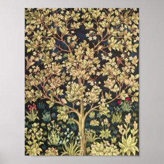 Árbol de William Morris del Pre-Raphaelite del Impresiones