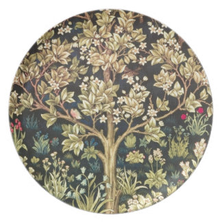 Árbol de William Morris del Pre-Raphaelite del Plato De Comida