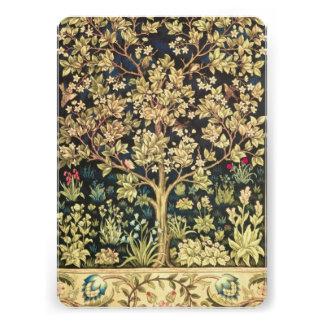 Árbol de William Morris del Pre-Raphaelite del vin Invitacion Personalizada