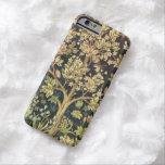 Árbol de William Morris del vintage floral de la Funda De iPhone 6 Barely There