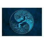 Árbol de Yin Yang de la piedra azul Plantilla De Tarjeta Personal