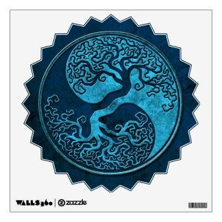 Árbol de Yin Yang de la piedra azul Vinilo