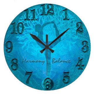 Árbol de Yin Yang de la yoga de la brisa del Reloj Redondo Grande