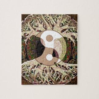 Árbol de Yin Yang del moreno de la vida Puzzle Con Fotos