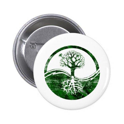 Árbol de Yin Yang Pin Redondo De 2 Pulgadas