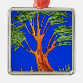 Árbol del acacia del verde azul de Hakuna Matata E Ornamentos De Reyes Magos