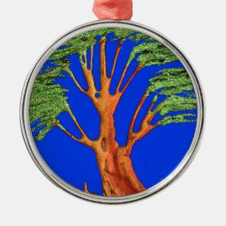 Árbol del acacia del verde azul de Hakuna Matata E Adorno De Reyes