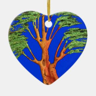 Árbol del acacia del verde azul de Hakuna Matata E Ornamento Para Arbol De Navidad
